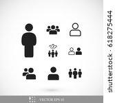 people icon  stock vector... | Shutterstock .eps vector #618275444