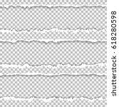 realistic vector torn paper...   Shutterstock .eps vector #618280598