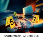 high contrast image of a bloody ... | Shutterstock . vector #618281318