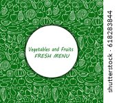 menu cover of vegetarian hand... | Shutterstock .eps vector #618283844