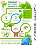 save energy infographics for...   Shutterstock .eps vector #618283940