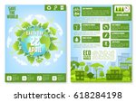 earth day brochure template.... | Shutterstock .eps vector #618284198