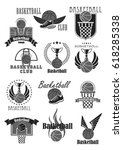 basketball club badges and... | Shutterstock .eps vector #618285338