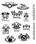 car speed racing sport icons.... | Shutterstock .eps vector #618285374