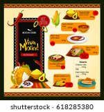 mexican cuisine menu for... | Shutterstock .eps vector #618285380