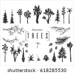 hand drawn isolated forest... | Shutterstock .eps vector #618285530