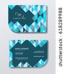 blue business card infomation... | Shutterstock .eps vector #618289988