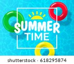 summer time background design... | Shutterstock .eps vector #618295874