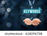 find keywords   seo and sem... | Shutterstock . vector #618296738