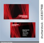 red and black modern business... | Shutterstock .eps vector #618307988