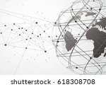 global network connection.... | Shutterstock .eps vector #618308708