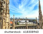 view from duomo roof in milan... | Shutterstock . vector #618308960