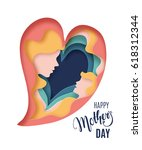 happy mothers day card.... | Shutterstock .eps vector #618312344