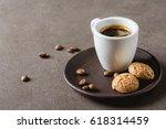 italian homemade espresso... | Shutterstock . vector #618314459