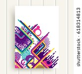 retro style abstraction.... | Shutterstock .eps vector #618314813