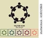 vector icon graphic teamwork... | Shutterstock .eps vector #618315863