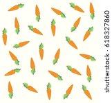 seamless pattern with carrots...   Shutterstock .eps vector #618327860