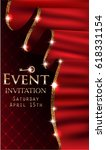 vip event invitation card with... | Shutterstock .eps vector #618331154