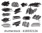 scribble brush strokes set ... | Shutterstock .eps vector #618332126