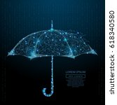 abstract image of a umbrella in ... | Shutterstock .eps vector #618340580