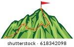 mountain climbing route ...   Shutterstock .eps vector #618342098