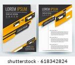 vector brochure  flyer template ... | Shutterstock .eps vector #618342824