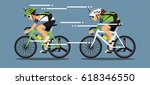 bicycle racing  vector... | Shutterstock .eps vector #618346550