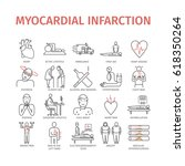 myocardial infarction line icon.... | Shutterstock .eps vector #618350264
