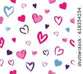 seamless hand drawn grungy... | Shutterstock .eps vector #618354254