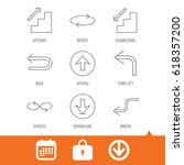 arrows icons. download  repeat... | Shutterstock .eps vector #618357200