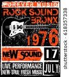 hand drawn rock festival poster.... | Shutterstock .eps vector #618357338