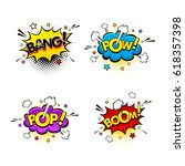 comic speech bubbles and...