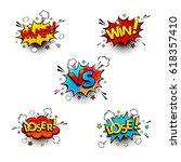 comic competition speech... | Shutterstock .eps vector #618357410
