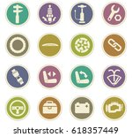 car shop vector icons for user... | Shutterstock .eps vector #618357449