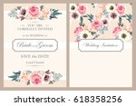 vintage wedding invitation | Shutterstock .eps vector #618358256