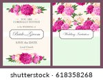 vintage wedding invitation | Shutterstock .eps vector #618358268