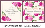 vintage wedding invitation | Shutterstock .eps vector #618358280