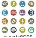 communication vector icons for... | Shutterstock .eps vector #618358358