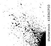 acrylic black explosion paint... | Shutterstock .eps vector #618361910