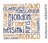 world city capitals vector... | Shutterstock .eps vector #618364370