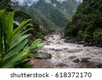 the urubamba river and the... | Shutterstock . vector #618372170
