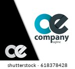 initial letter oe ce rounded... | Shutterstock .eps vector #618378428