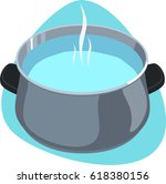 pot with hot clear water and... | Shutterstock .eps vector #618380156
