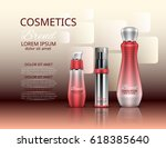 cosmetic set. realistic... | Shutterstock .eps vector #618385640