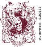 evil cherub skull illustration   Shutterstock . vector #6183883