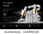 hydrating facial serum for... | Shutterstock .eps vector #618390128