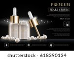 hydrating facial serum for... | Shutterstock .eps vector #618390134