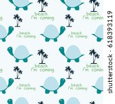 seamless pattern of happy... | Shutterstock .eps vector #618393119