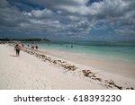 akumal  mexico  circa february... | Shutterstock . vector #618393230