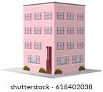3d design for apartment... | Shutterstock .eps vector #618402038